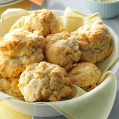 Hurry-Up Recipe -When I was young, my mom would make these biscuits with fresh cream she got from a local farmer. I don't go to those lengths anymore, but the family recipe is still a real treat. Biscuit Bread, Biscuit Recipe, Dinner Rolls, Easy Bread Recipes, Cooking Recipes, Cornbread Recipes, Healthy Recipes, Sausage Recipes, Tortillas