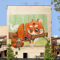 New Street Art by Dulk in Rome   #art #arte #mural #streetart