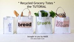 DIY shopping bags from made it