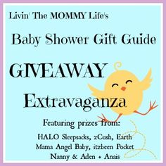 Baby Shower Gift Guide Giveaway Extravaganza!  Ends 09/30/13  WIN great prizes from aden + anais, zCush, itzbeen Pocket Nanny, Earth Mama Angel Baby, and HALO Sleepsack  5 Prizes, 5 Winners!