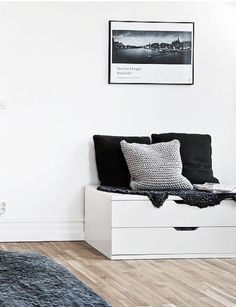 Ikea 'Nordli' drawers as bench