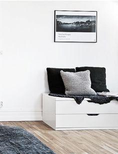 Ikea 'Nordli' drawers as bench - - Ikea Bedroom, Bedroom Decor, Nordli Ikea, Decoration Entree, Ikea Kids, Best Ikea, Space Interiors, Diy Interior, Ikea Hack