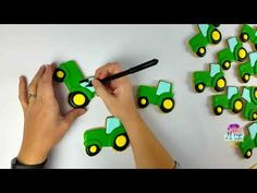 Tractor Cookies, Farm Cookies, Cookies For Kids, Cut Out Cookies, Iced Cookies, Cute Cookies, Royal Icing Cookies, Sugar Cookies, Farm Birthday Cakes