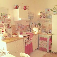 Casinha colorida: Home Tour: Cottage e Shabby Chic #vintageshabbychickitchen