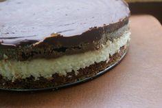 ТОРТ БАУНТИ  Торт получается как настоящая шоколадка баунти. Очень вкусный и очень сытный.  Время приготовления: 50 мин.+ охлаждение Порций: 8  Ингредиенты:  Для теста: 250 гр. масла или маргарина 200 гр. сахара 200гр. муки 2-2,5 ч.л ложки разрыхлителя 4 яйца 4 ст.л. молока 3 ст.л. пудры какао  Для начинки: далее читайте на сайте нашей группы- http://kyshaidoma.blogspot.com.by/2013/08/blog-post_1492.html