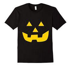 Men's, Women's and Kids Jack O' Lantern Pumpkin Happy Halloween Costume T-Shirt 2XL Black