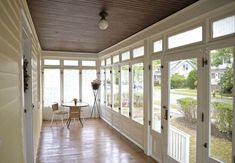 Colonial Style House Renovated NJ - I love this beautiful enclosed porch!
