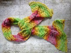 Fertig! gestrickter Sommerschal ~ Ready! knitted summer shawl      Garn und Anleitung von Ideenreich Bielefeld