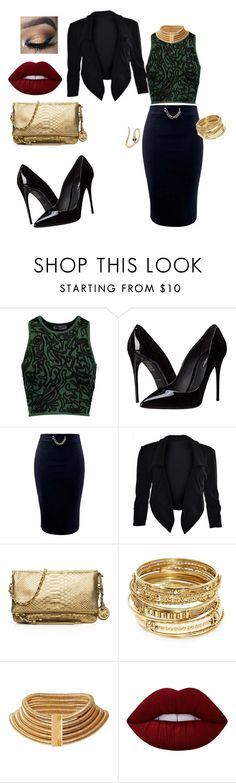 """""""a night out as a slytherin"""" by mara-velisek on Polyvore featuring Opening Ceremony, Dolce&Gabbana, MICHAEL Michael Kors, ABS by Allen Schwartz, Balmain and Lime Crime"""