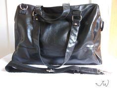 PU Leather Handbag Shoulder Bag  Black by JWPersonalShop on Etsy, $69.99