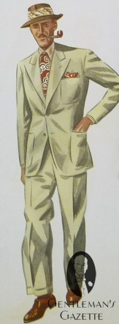 Off White Summer Suit with Patch Pockets and Peaked Lapels