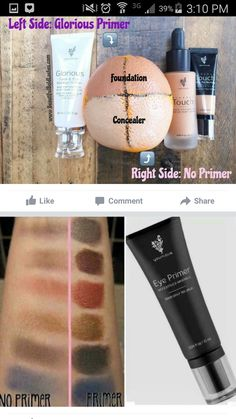 Primer seals the skin and makes your colors pop!!