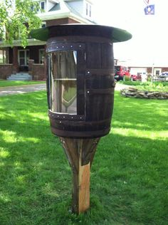 Little Free Library 6379 located at my home on Martin Street in Clearfield, Pennsylvania.  My husband constructed this out of a vintage, oak, wine barrel.  Please like our page on facebook also, little free library 6379 in Clearfield, Pennsylvania.