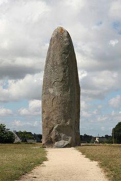 Menhir de Champ Dolent. El menhir más grande de Bretaña en pie.