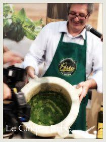 LE CINQUE ERBE: Lezione di Pesto Genovese al Mortaio con Roberto Panizza