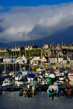 Findochty Harbour, Findochty, Moray, Scotland. (Pinned from Pinner).