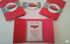 Car Themed Parties, Cars Birthday Parties, Lightning Mcqueen Party, Auto Party, Cars Birthday Invitations, Monster Truck Birthday, Car Themes, Disney Cars, 3 Years