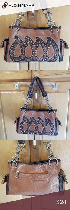 Montana West Purse Excellent condition!  Barely used.  Lots of pockets & easy carry handles.  Purse measures 12x8x4 excluding handles. Montana West  Bags