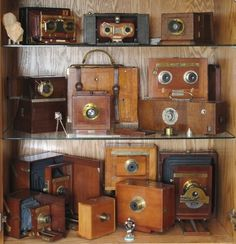 Vintage Cameras on Display