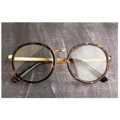 Nerd Brille filigran rund Glasses Klarglas Hornbrille treber 464 Leopar findhoon