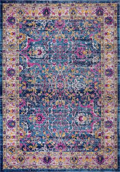 Set a traditional foundation for your stylish space – inside or outdoors – with this oriental area rug, showcasing an Persian motif in shades of blue, lilac pink and hints of yellow. Indoor Outdoor Area Rugs, Outdoor Living, Persian Motifs, Rose Shop, Blue Carpet, Beige Area Rugs, Rugs On Carpet, Bohemian Rug, Oriental