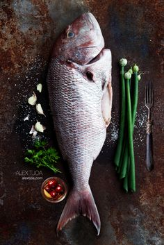 Top 10 Foods For Blood Type 0 - Top Inspired Raw Food Recipes, Fish Recipes, Cooking Recipes, Love Eat, Love Food, Food For Blood Type, Dark Food Photography, Red Snapper, Fish Dishes