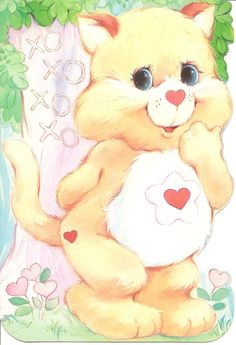 """American Greetings Care Bears Cousins """"Proud Heart Cat"""" by DustOffTheShelf, $5.00"""