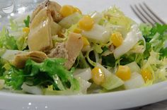 Fennel, corn and artichoke salad - Discover the best way to prepare fennel, corn and artichoke salad in 15 minutes. Only 175 kcal per - Raw Food Recipes, Brunch Recipes, Italian Recipes, Salad Recipes, Healthy Recipes, Artichoke Salad, Cold Dishes, Weird Food, No Calorie Foods