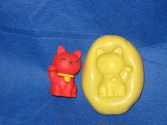 Happy Cat Silicone Push Mold Resin Clay Candy #12 chocolate Fondant Soap #LobsterTailMolds