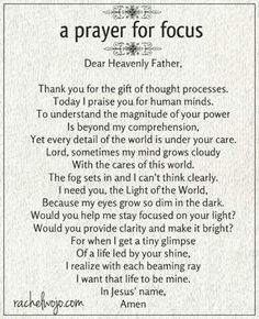 Whether your struggle is due to stress, anxiety, or sleep deprivation, this prayer for focus will help! Prayers and how to pray Prayer Times, Prayer Scriptures, Bible Prayers, Faith Prayer, Prayer Quotes, My Prayer, Spiritual Quotes, Prayer Room, Healing Prayer