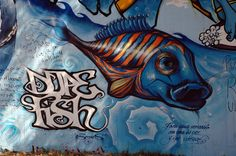 Graffiti fish, BArcelona