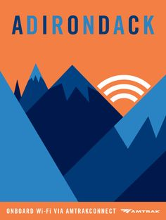 Adoring this series of posters advertising Amtrak's WiFi services by Andrew Bannecker.