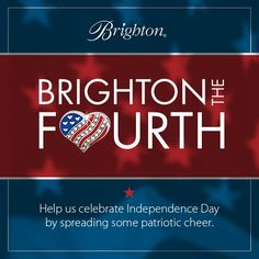 Every day till July 4th, we're posting Americana accessories on our four social sites: Facebook, Instagram, Pinterest and Twitter. Just share those images with the hashtag #BrightontheFourth. From your posts, we'll randomly select four fans to win $400 Brighton gift cards. Our country, 'tis of thee, sweet land of liberty, of thee we bling. ;)