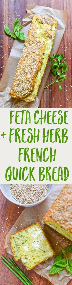 This feta and fresh herb quick bread is a cinch to make, and a favorite of French picnics and potlucks! Can be made ahead and/or frozen.