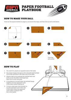 Paper+football | Paper Football Playbook Guidelines & Rules