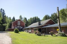 Yard And Buildings #visitsouthcoastfinland #myllyniemi #Lohja #Finland #building #landscape
