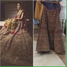 Buy This Bridal Wear Bridal Wedding Lehenga in Full Hand Zardozi Work In Gold! We made this … Indian Wedding Lehenga, Bridal Lehenga Choli, Pakistani Wedding Dresses, Silk Lehenga, Lehenga Wedding Bridal, Lehanga Bridal, Indian Lehenga, Gown Wedding, Bridal Gowns