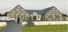 Dormer Bungalow, L Shaped House, Bungalow Ideas, Self Build Houses, Entrance Foyer, Building A New Home, French Doors, Modern Farmhouse, Ireland