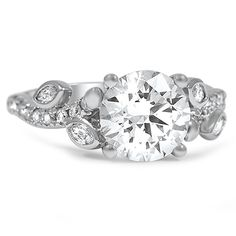 Vine and Leaves Engagement Ring from Brilliant Earth