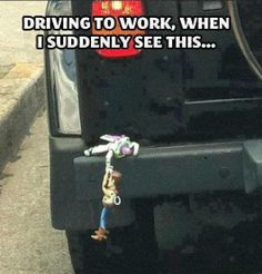 There goes Woody..