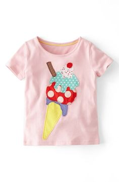 Mini Boden 'Big Appliqué' Tee (Toddler Girls, Little Girls & Big Girls) | Nordstrom
