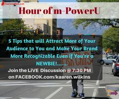 Want to Make Your Brand More Recognizable, Get a Global Reach, Generate More Success and More; Even if You're a NEWBIE?... Join the LIVE Discusssion Today @ 7:30 PM est...on Facebook.com/kaarenwilkins...