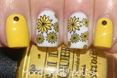 Bright yellow reverse stamped flowers