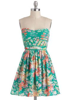 Lush with Beauty Dress, #ModCloth