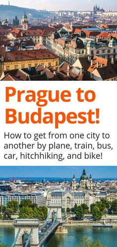 Prague to Budapest - Trying to figure out how to get from Prague to Budapest? Want to know if train, plane, bus, or car is the best option? Then this guide is for you! Travel Articles, Travel Info, Us Travel, Travel Guides, Family Travel, Travel Plan, Travel Tips, Shopping Travel, Budapest Travel