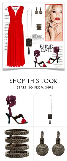 """""""Red to Impress"""" by angelicallxx ❤ liked on Polyvore featuring Attico, Tory Burch, Repossi, MUNNU The Gem Palace, Giambattista Valli and blinddate"""