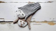 Knitted Mittens/ Animals Gloves/ Sheeps Mittens/ by NataNatastudio