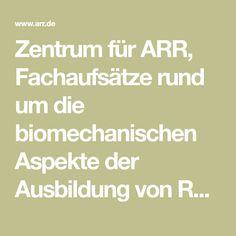 Zentrum für ARR, Fachaufsätze rund um die biomechanischen Aspekte der Ausbildung von Reitpferden