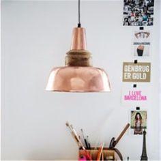 Lámpara de techo copper, Retro