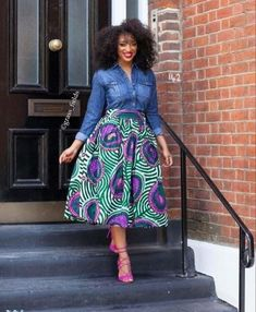 Beautiful African Fashion Ankara Styles in Fashion Trends for Black Women African Print Skirt, African Print Dresses, African Fashion Dresses, African Dress, African Prints, Ankara Fashion, African Fabric, Ghanaian Fashion, African Inspired Fashion